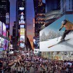 New York et le plus grand écran du monde à Times Square!