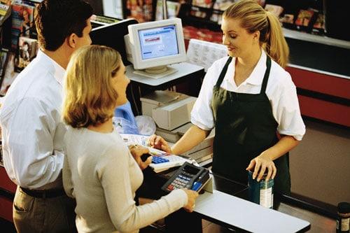 caissière supermarché US
