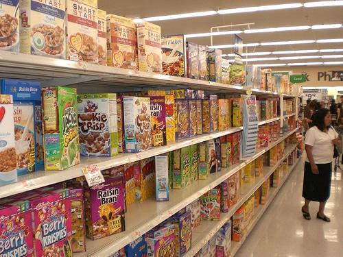 rayon des céréales à Walmart