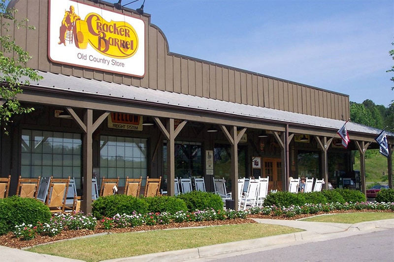 Restaurant Américain Cracker Barrel aux USA