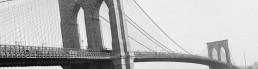 pont de brooklyn noir et blanc