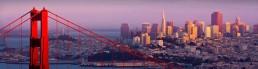 Vue de San Francisco et Golden Gate Bridge