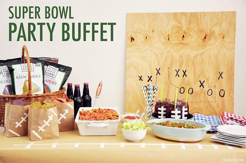 Buffet pour soirée Super Bowl