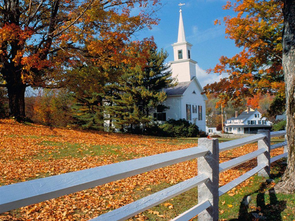 Nouvelle Angleterre en Automne, avec la flambée des couleurs