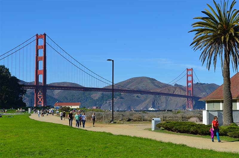 Crissy Field Golden Gate Bridge San Francisco