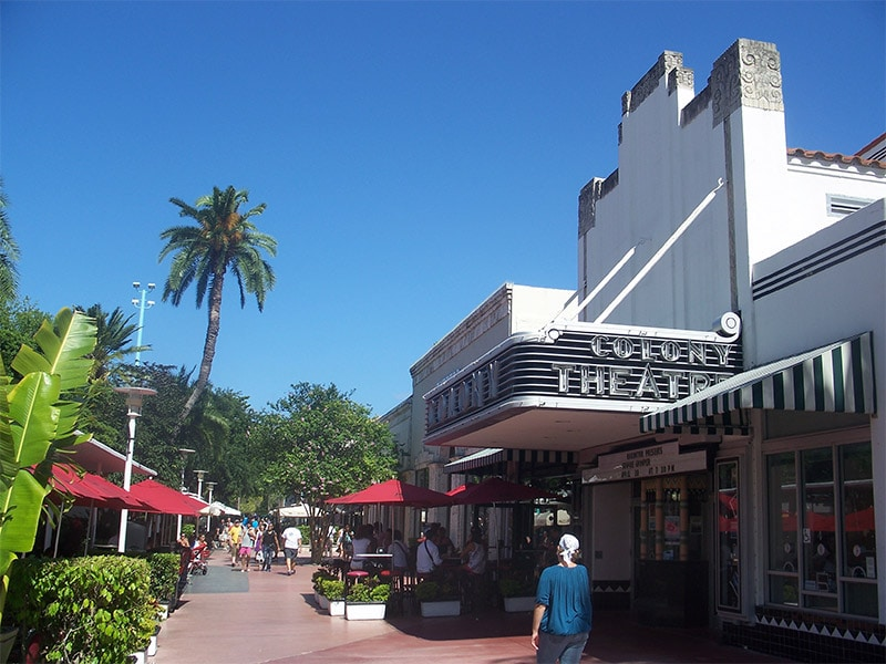 Centre commercial Lincoln Road Mall à Miami
