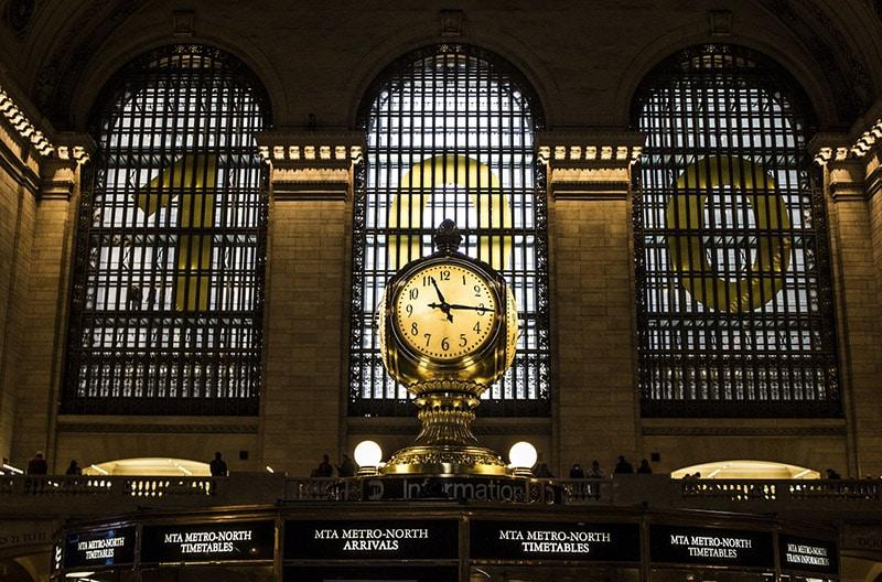 Heure de New York Horloge de Grand Central
