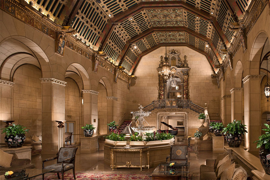 Lobby de l'hôtel Biltmore à Los Angeles