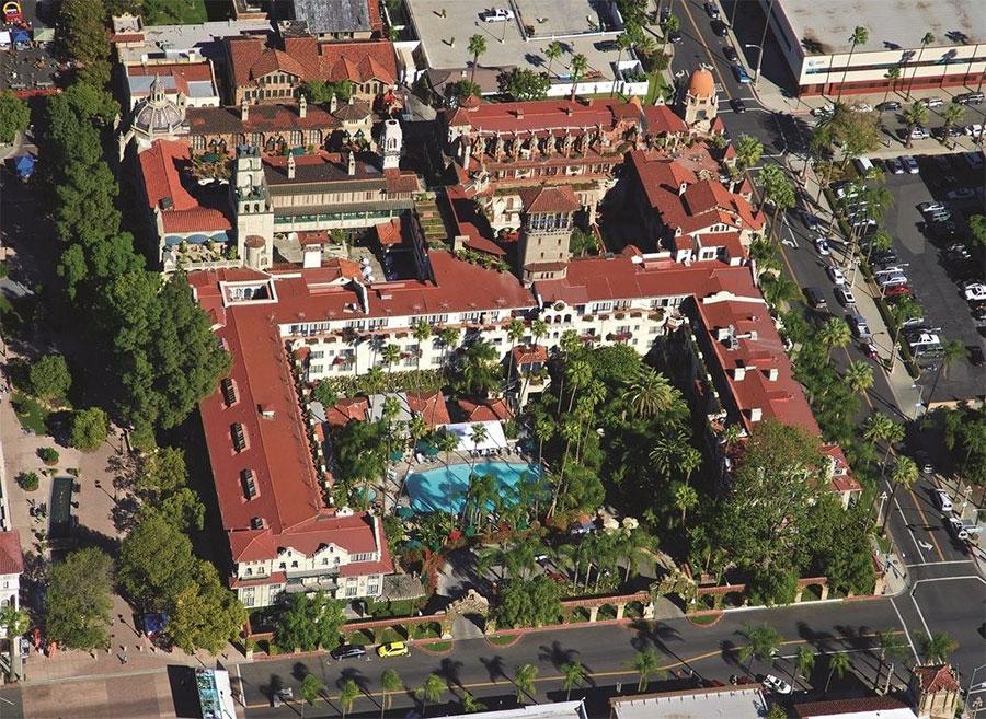 Mission Inn Riverside Californie vue du dessus