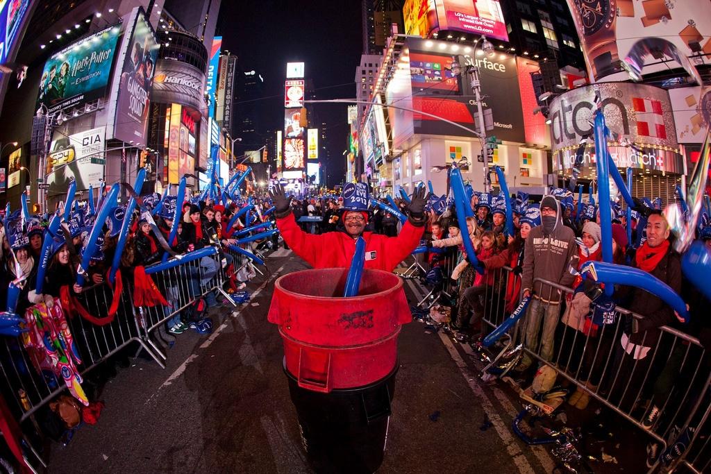 Cadeaux pour le réveillon du Nouvel An à Times Square