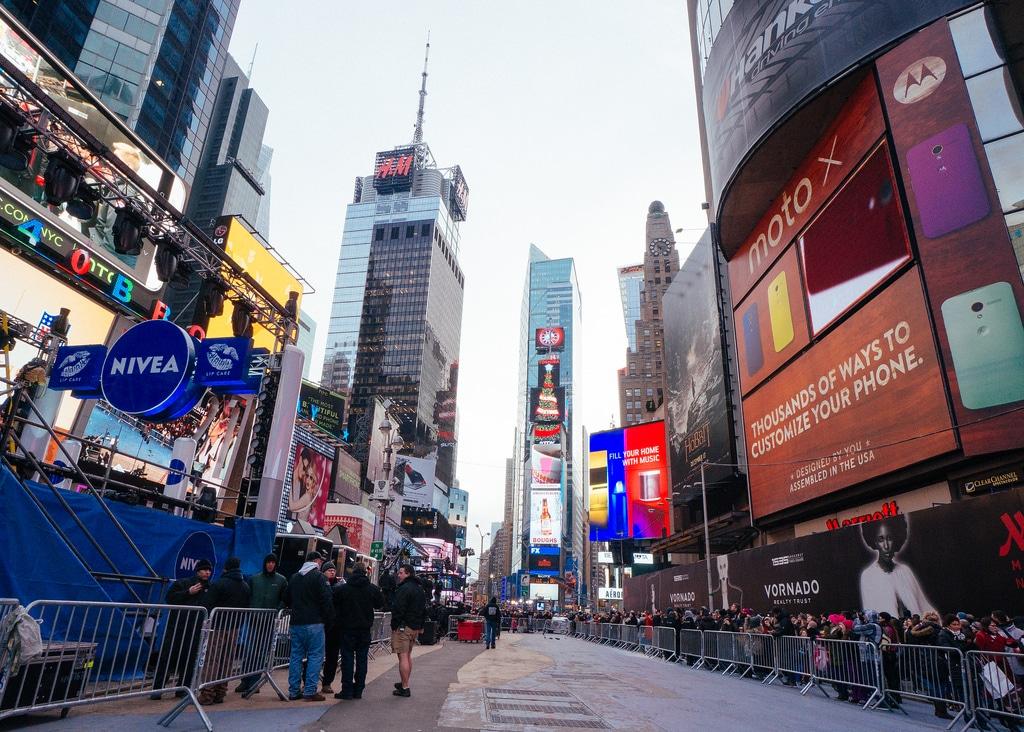 Préparation du Nouvel An à Times Square