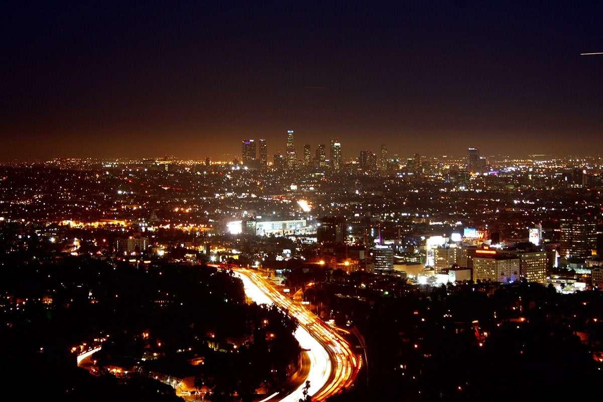 Los Angeles vue depuis le Hollywood Bowl Observatory