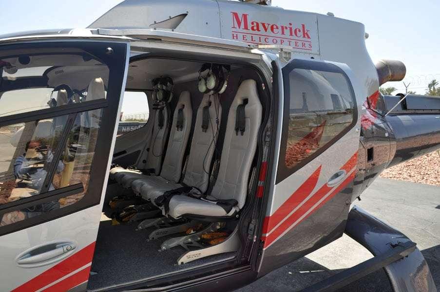 Hélicoptère utilisé par la société Maverick