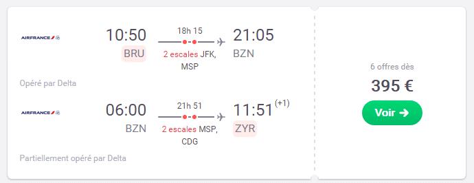 Billet d'avion Bruxelles - Bozeman Montana