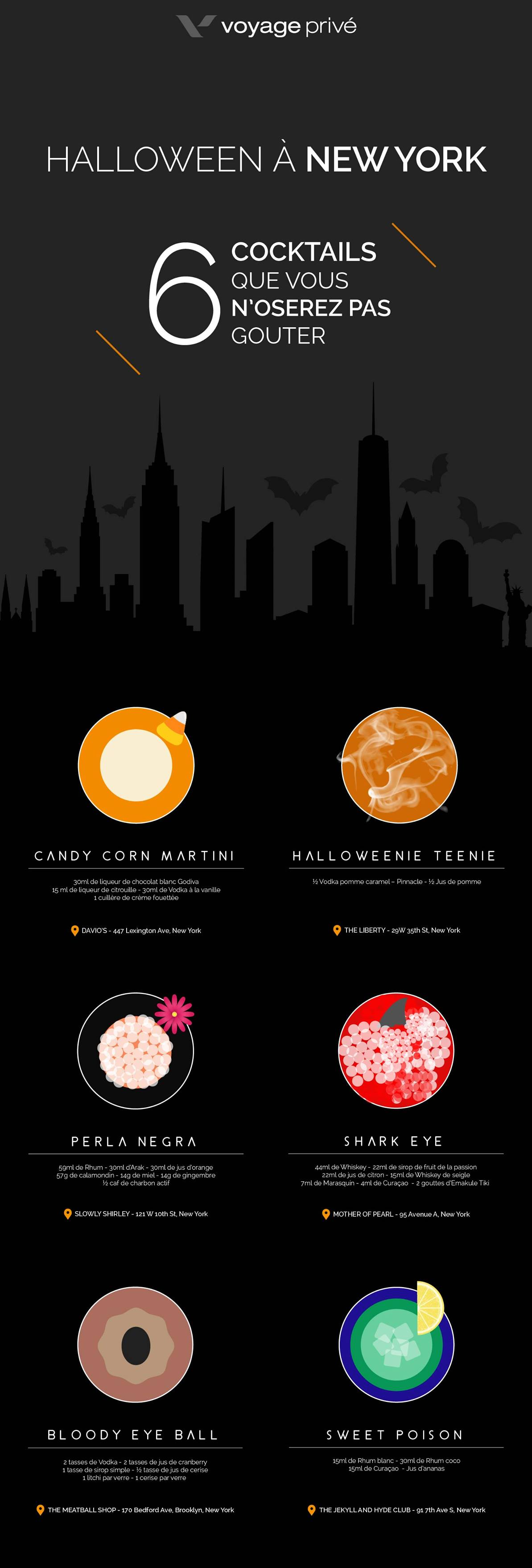 Cocktail pour Halloween à New York