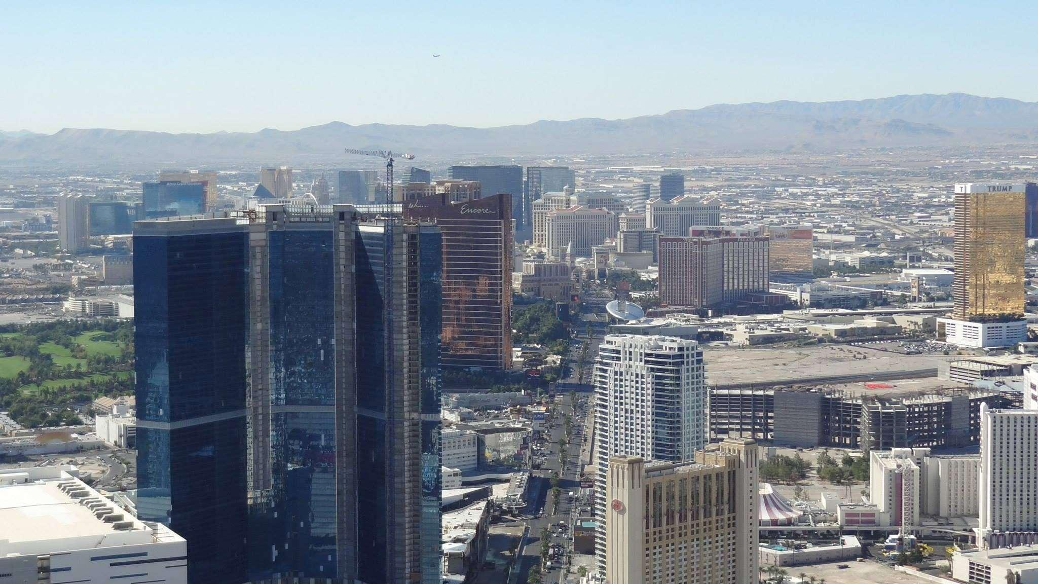 Strip de Las Vegas depuis la Stratosphere Tower