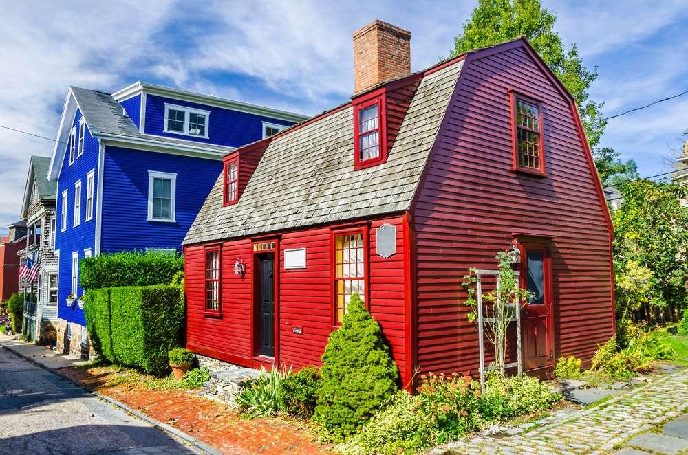 Maisons traditionnelles à Newport Rhode Island