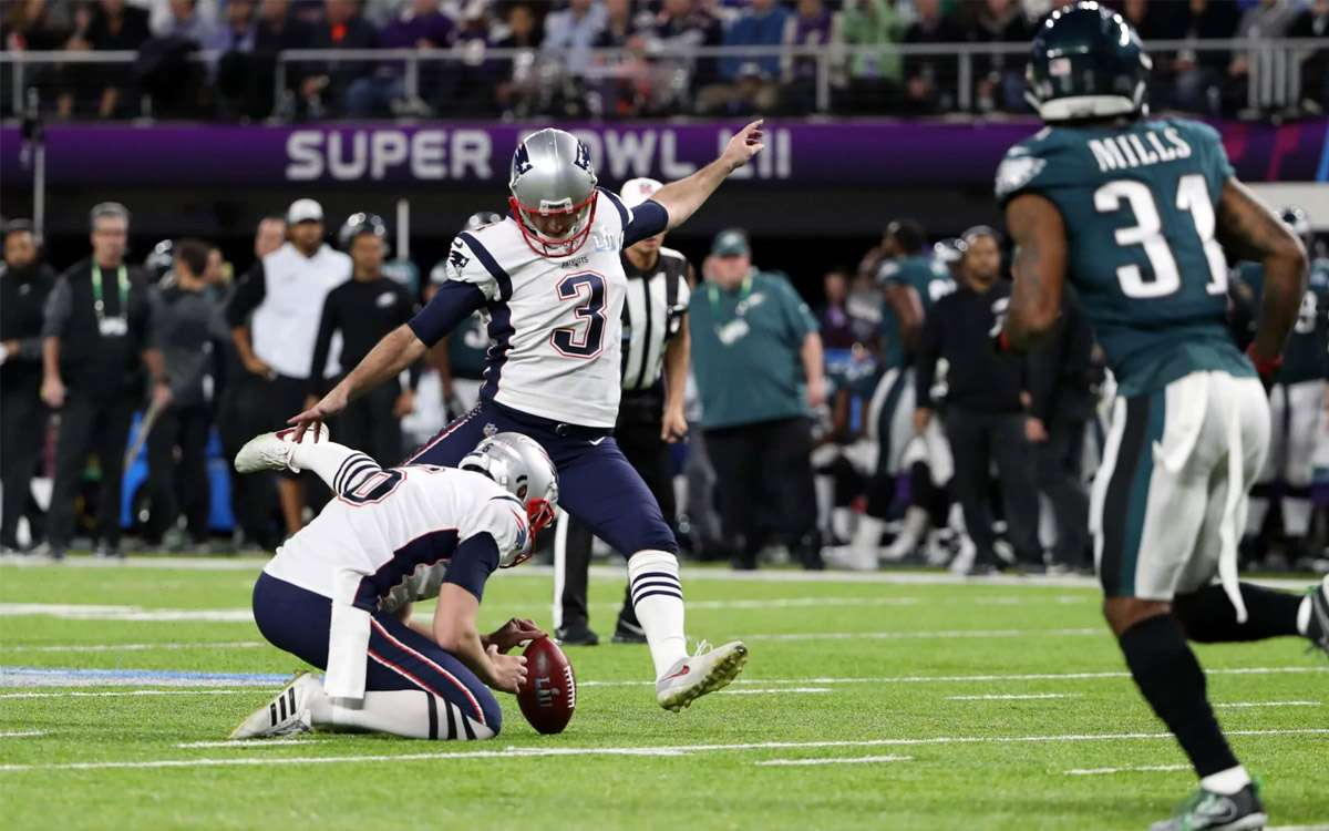 Les Patriots tentent un Field Goal