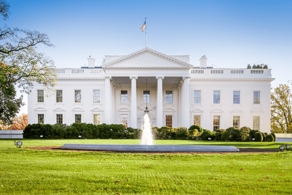 Vue de la Maison Blanche depuis le Sud