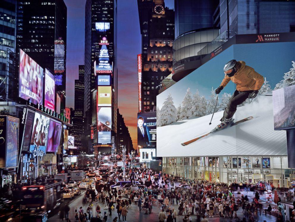 le plus grand écran du monde sur times square