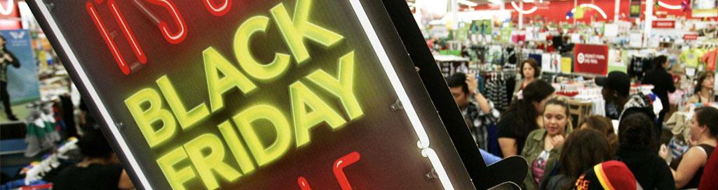 panneau annonçant le début de black friday