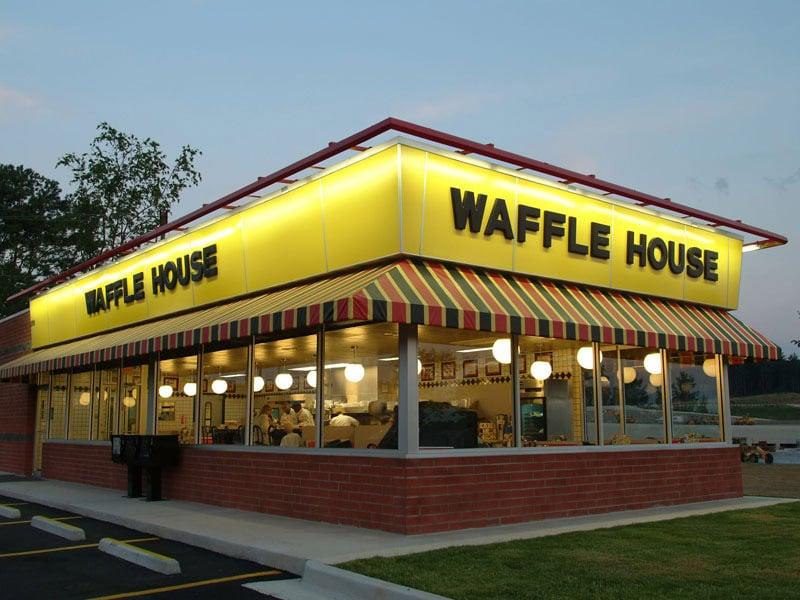 restaurant de petit déjeuner aux USA Waffle House
