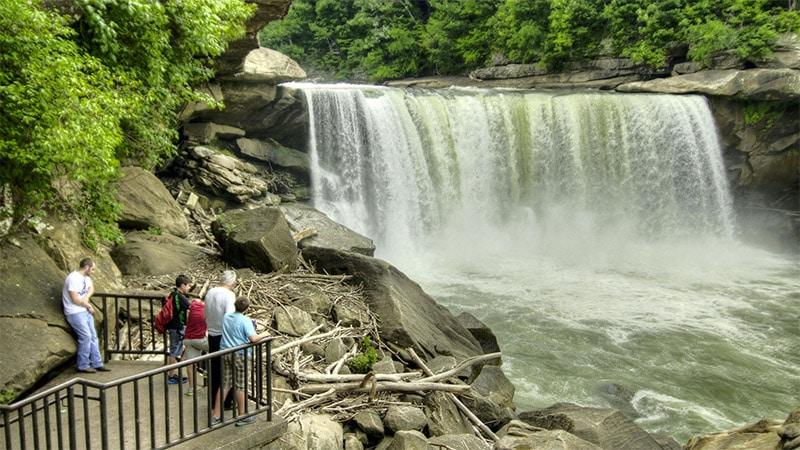 Cumberland Falls State Park dans le Kentucky