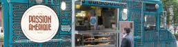 food truck avec logo passion amerique à new york