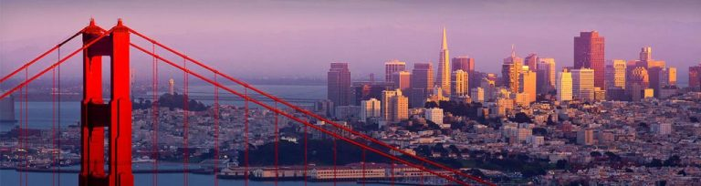 Vue de San Francisco et Golden Gate Bridge