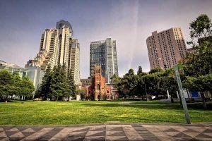 Les Yerba Buena Gardens, au coeur de San Francisco