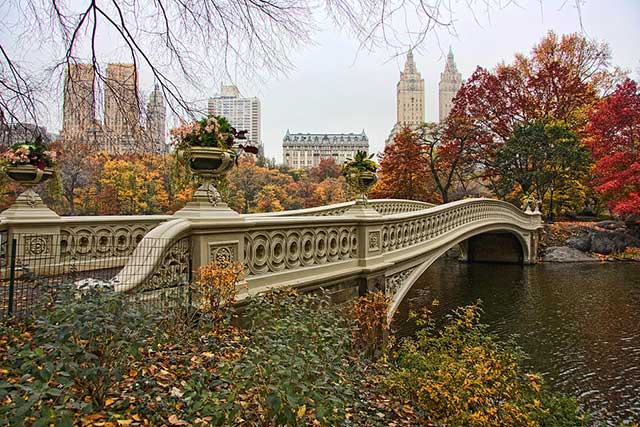 Bow Bridge à Central Park New York City