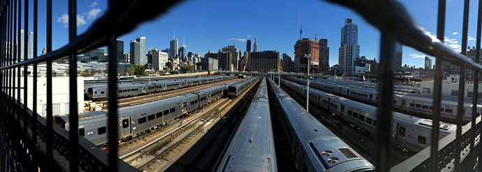 new york en train