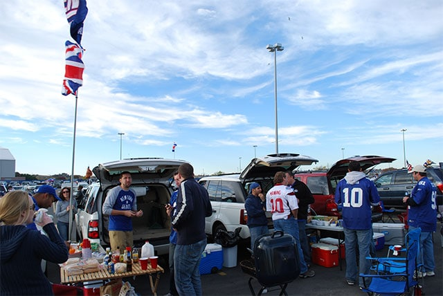Tailgate avant un match des new york giants