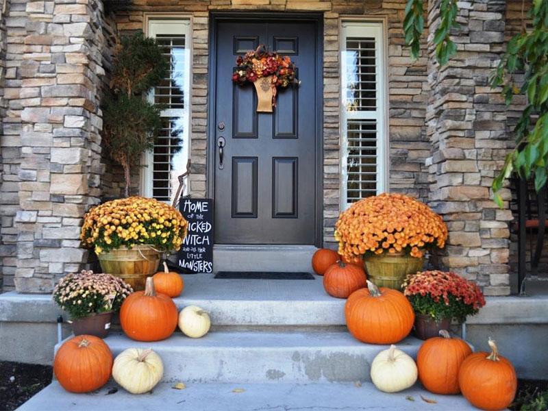 une décoration automnale pour Halloween