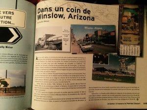 livre mythique route 66 winslow arizona