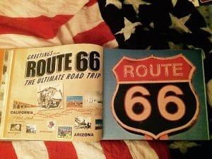 livre mythique route 66 panneau de route