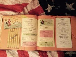 livre mythique route 66 menus