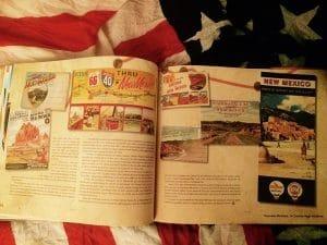 livre mythique route 66 cartes postales