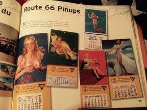 livre mythique route 66 pinups
