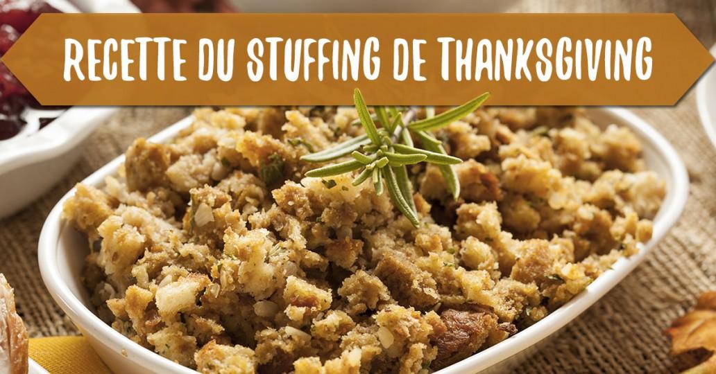 recette du stuffing de thanksgiving