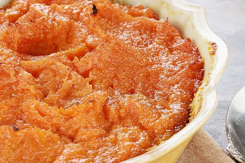 saladier de purée de patate douce