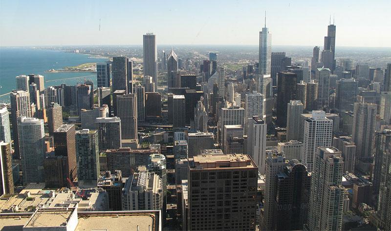 Vue de Chicago depuis la Hancock Tower