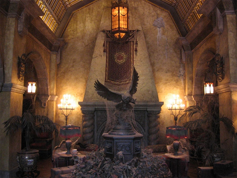 Lobby de la Hollywood Tower Hotel à Hollywood Studios