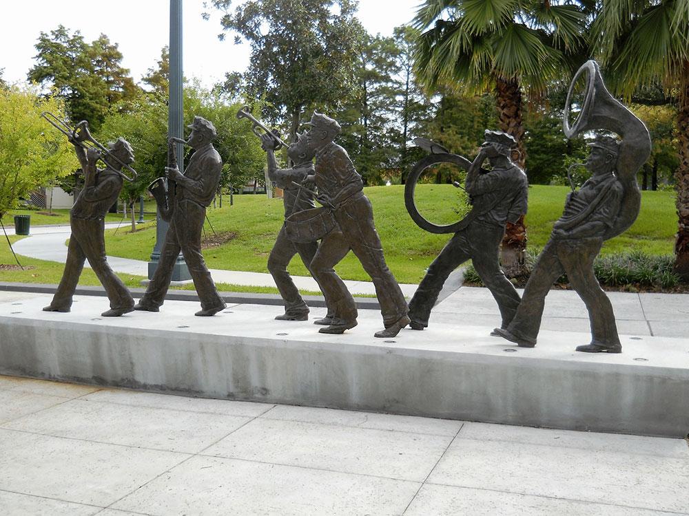Sculpture en hommage au Jazz à la Nouvelle Orleans