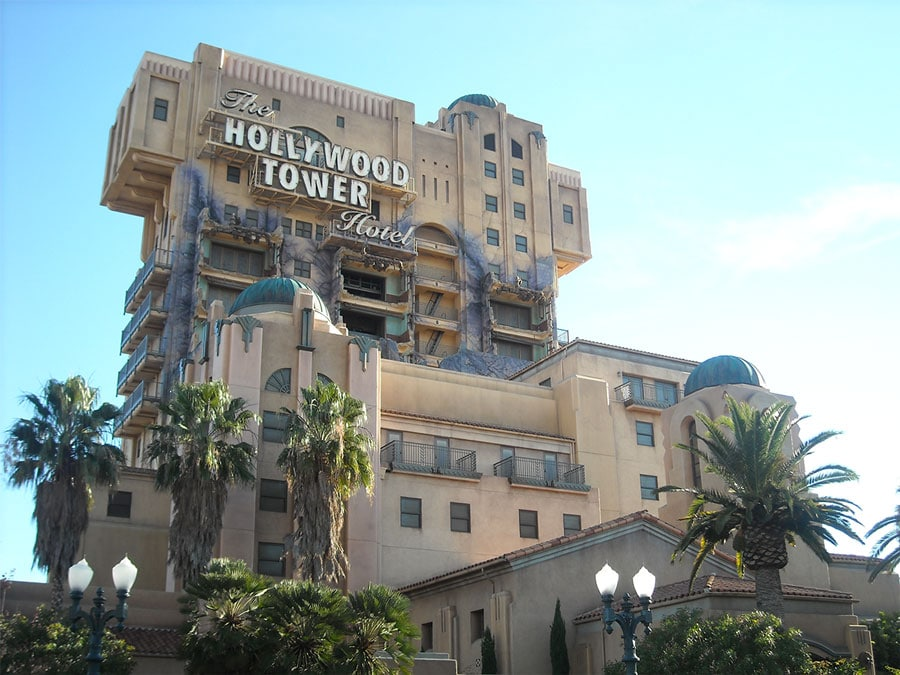 Hollywood Tower Hotel à Disneyland Californie
