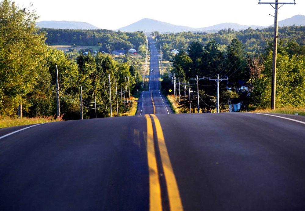 Route à l'entrée de Katahdin Woods