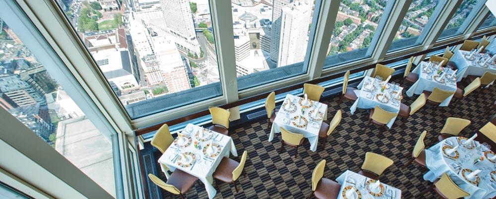 Vue aérienne du restaurant Top of the Hub