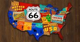 Carte de la Route 66