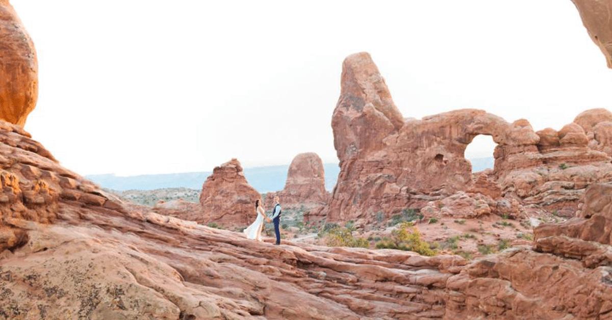 Mariage parc national USA
