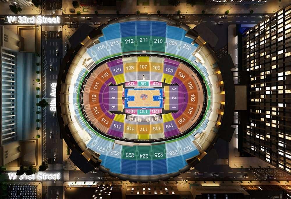 Position des sièges au Madison Square Garden